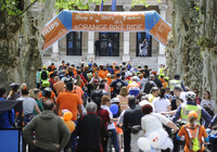 Orange bike ride u  parku Zrinjevac